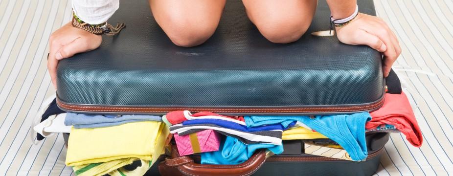 Die meisten Menschen packen für den Urlaub immer zu viel ein.