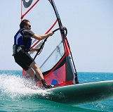 Windsurfer am Comer See