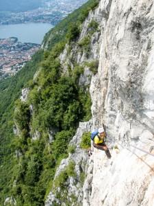 Klettern am Comer See